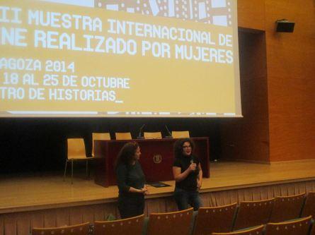 En Muestra Internacional de Cine Realizado por Mujeres de Zaragoza. 2014