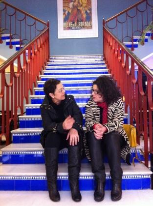 Con Cecilia Bartolomé en Filmoteca Española. 2011