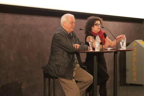 Con Diego Galán presentando 'Con la pata quebrada'. Muestra Cine y Mujeres 2013