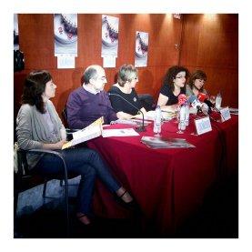 Rueda de prensa presentación 25 Muestra Cine y Mujeres Pamplona. 2011